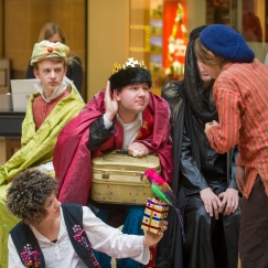 Performing Amahl in the Grand Arcade