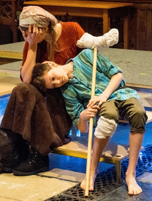 Amahl and his Mother are exhausted by their troubles